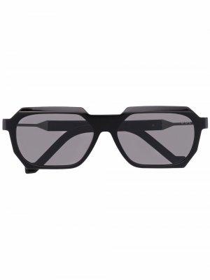 Солнцезащитные очки в квадратной оправе VAVA Eyewear. Цвет: черный