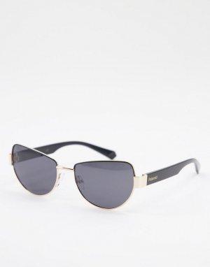 Солнцезащитные очки-авиаторы -Черный цвет Polaroid
