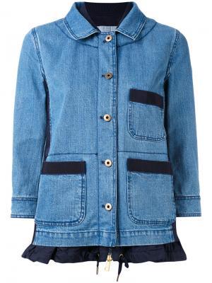 Джинсовая куртка Houx Moncler. Цвет: синий