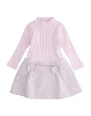 Платье LILI GAUFRETTE. Цвет: светло-розовый
