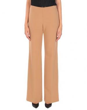 Повседневные брюки CARLA MONTANARINI. Цвет: верблюжий