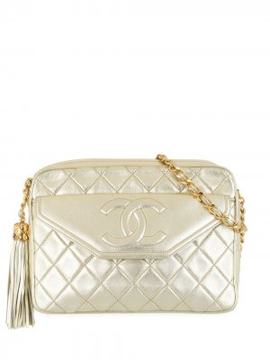 Каркасная сумка 1990-х годов с кисточкой Chanel Pre-Owned. Цвет: золотистый