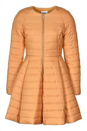 Оранжево-персиковая куртка с расклешенным низом Anna Rita N. Цвет: желтый