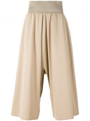 Широкие укороченные брюки Bless. Цвет: телесный