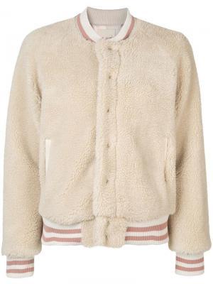 Текстурная куртка-бомбер Mother. Цвет: нейтральные цвета