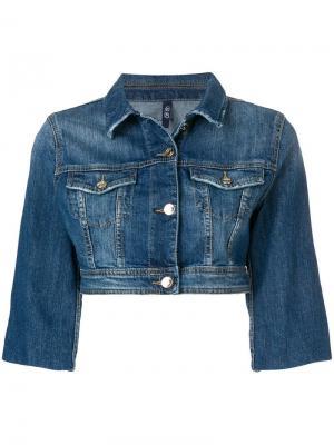Укороченная джинсовая куртка Liu Jo. Цвет: синий