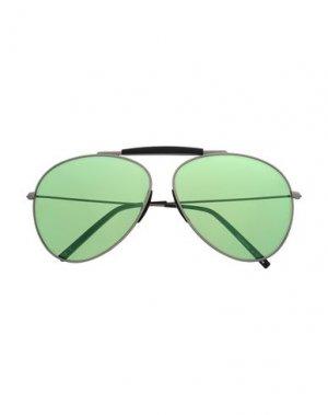 Солнечные очки ACNE STUDIOS. Цвет: серебристый