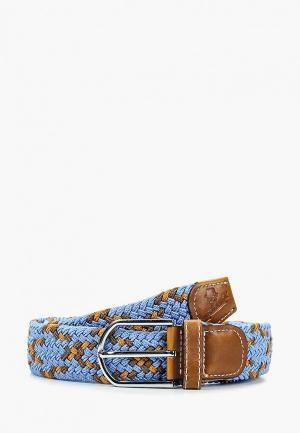 Ремень Churchill accessories. Цвет: голубой
