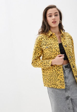 Куртка джинсовая Whitney. Цвет: желтый