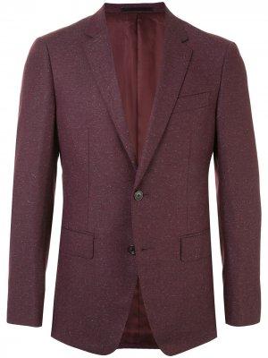 Однобортный пиджак Kent & Curwen. Цвет: красный