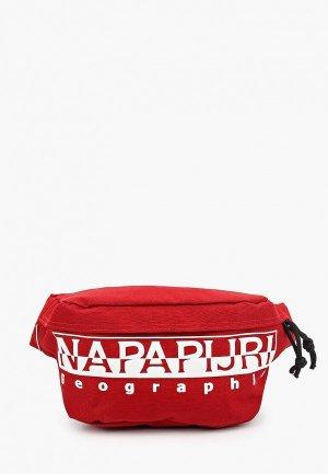 Сумка поясная Napapijri. Цвет: красный