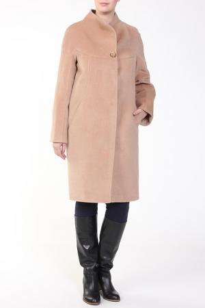 Пальто Exclusive. Цвет: бежевый
