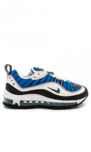 Кроссовки air max 98 Nike. Цвет: синий