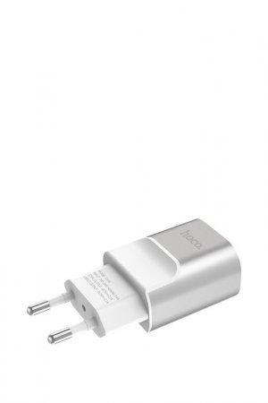 Сетевое зарядное устро-во C47A Hoco. Цвет: серебро