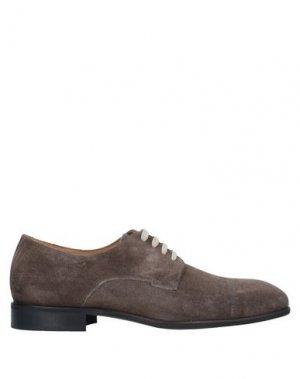 Обувь на шнурках BRUNO MAGLI. Цвет: голубиный серый