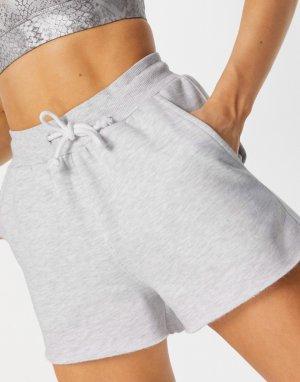 Серые меланжевые шорты-джоггеры -Серый ASOS 4505