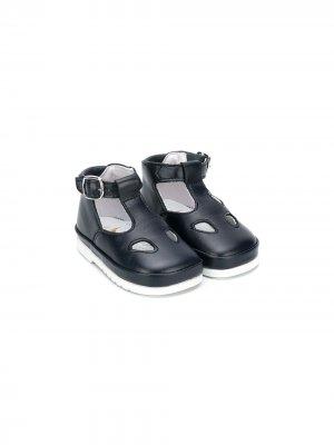 Туфли Ox-Eye с пряжками Gallucci Kids. Цвет: синий