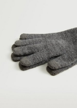 Сенсорные перчатки из трикотажа - Touch Mango. Цвет: меланжевый темно-серый