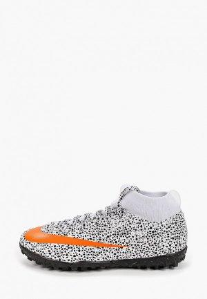 Шиповки Nike JR SUPERFLY 7 ACADEMY CR7 TF. Цвет: белый