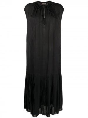 Плиссированное платье с завязками By Malene Birger. Цвет: черный