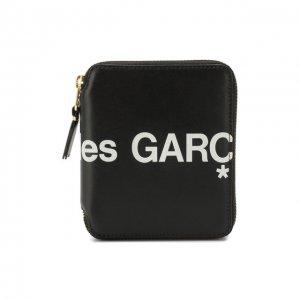Кожаное портмоне Comme des Garcons Play. Цвет: чёрный