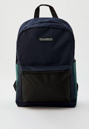 Рюкзак Pull&Bear. Цвет: синий