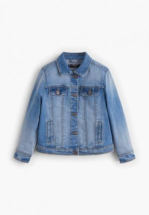 Куртка джинсовая Mango Kids - ALLEGRA. Цвет: синий