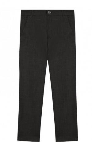 Шерстяные брюки прямого кроя Aletta. Цвет: темно-серый
