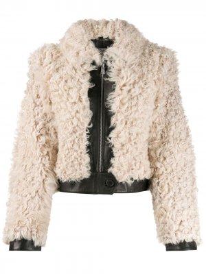 Shearling short jacket Tommy Hilfiger. Цвет: черный