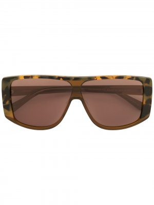 Массивные солнцезащитные очки Meteoric Karen Walker. Цвет: коричневый