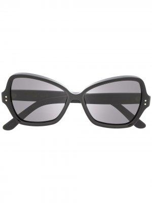 Солнцезащитные очки в геометричной оправе Celine Eyewear. Цвет: черный