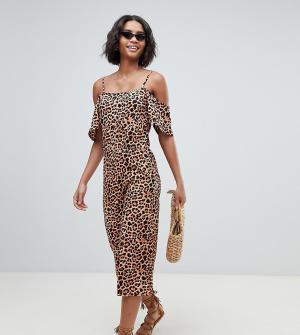 Пляжный комбинезон с леопардовым принтом -Мульти South Beach