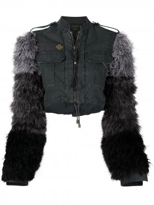 Джинсовая куртка со съемными рукавами Mr & Mrs Italy. Цвет: серый