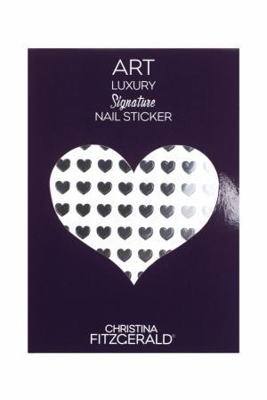 Арт-стикеры для ногтей Art Luxury Signature Nail Sticker «Black Heart», 96 шт. Christina Fitzgerald. Цвет: черный