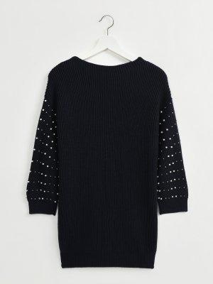 Платье из шерсти и акрила Finisterre. Цвет: temno_siniy