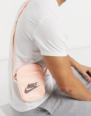 Бледно-розовая сумка через плечо Nike Heritage-Розовый цвет