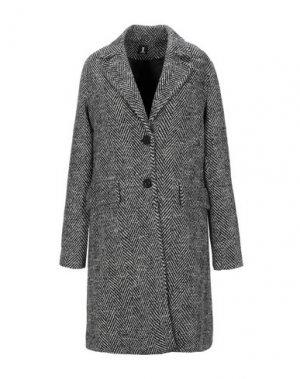 Пальто 1-ONE. Цвет: черный