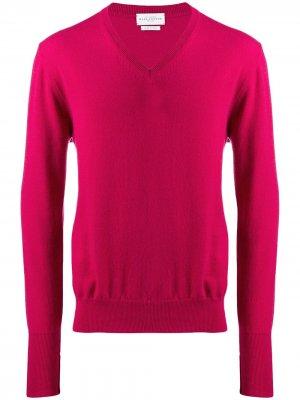 Трикотажный свитер с V-образным вырезом Ballantyne. Цвет: розовый