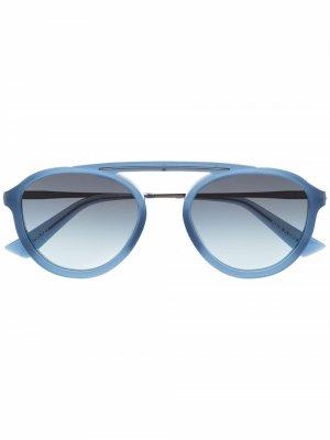 Солнцезащитные очки Vinz в круглой оправе Christian Roth. Цвет: синий