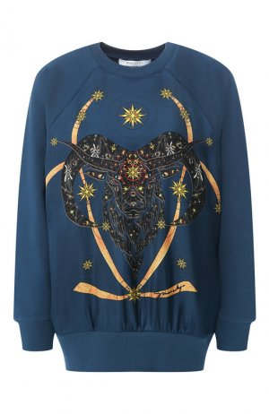 Хлопковый пуловер Givenchy. Цвет: синий