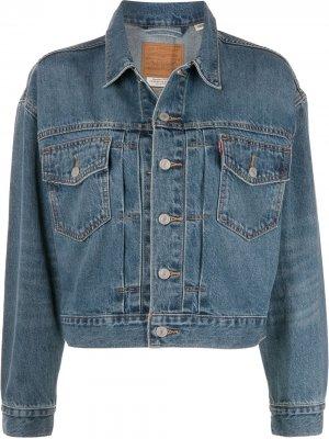 Levis джинсовая куртка Heritage Trucker Levi's. Цвет: синий