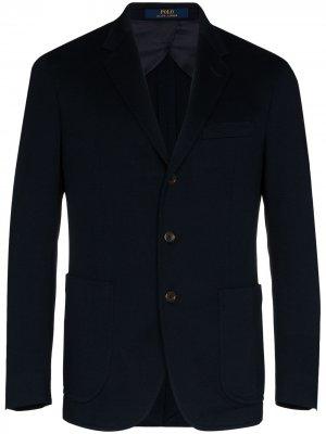 Однобортный пиджак Polo Ralph Lauren. Цвет: синий