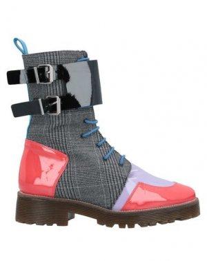 Полусапоги и высокие ботинки PIANURASTUDIO. Цвет: коралловый