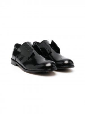 Туфли дерби с закругленным носком Dsquared2 Kids. Цвет: черный
