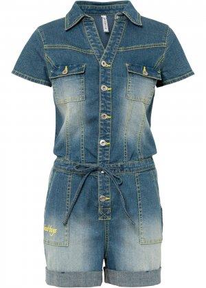 Комбинезон джинсовый bonprix. Цвет: синий