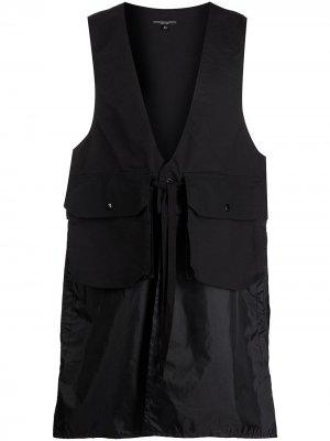 Длинный жилет с карманами Engineered Garments. Цвет: черный