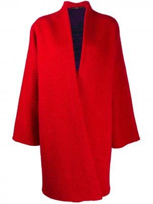 Пальто 1990-х годов с V-образным вырезом Gianfranco Ferré Pre-Owned. Цвет: красный