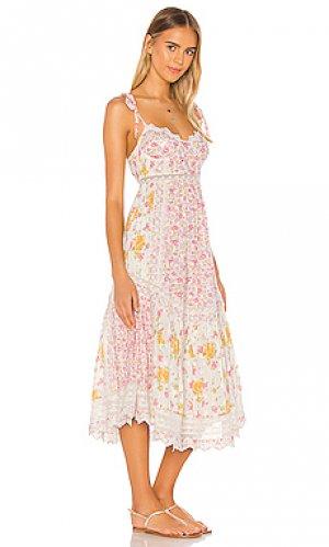 Летнее платье antonella LoveShackFancy. Цвет: розовый