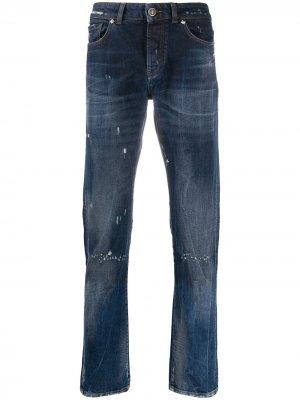 Зауженные джинсы Sid средней посадки John Richmond. Цвет: синий