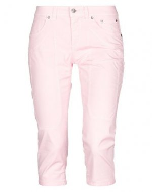 Джинсовые брюки-капри JECKERSON. Цвет: розовый